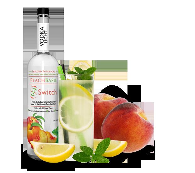 peach basil vodka
